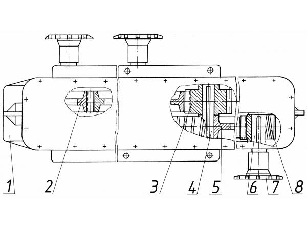 Редуктор мешалки Д225Б.2305-00 ДС-117, ДС-158, ДС-185