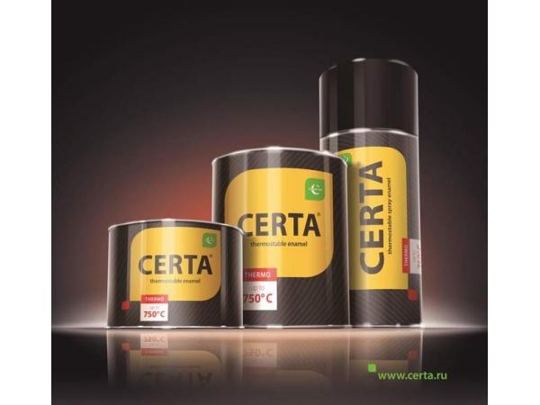Термостойкая антикоррозионная краска «CERTA®». Термостойкость до+1200°