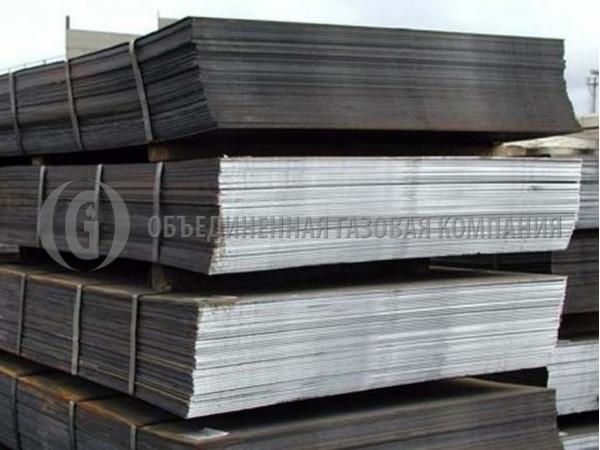 Лист стальной горячекатаный, 09г2с, от 4 мм - 10 мм, ГОСТ 17066-94.
