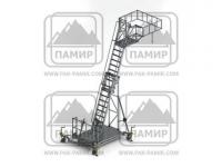 Стремянки передвижные алюминиевые СПА-Н для обслуживания цистерн