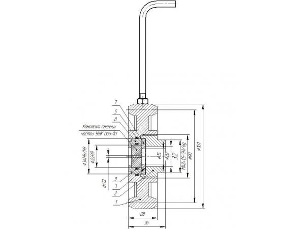Устройство штуцерное с керамической вставкой УШК 004