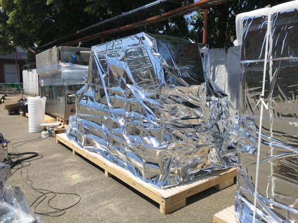 Пленка полиэтиленовая металлизированная 220мкм 1315ммх300м