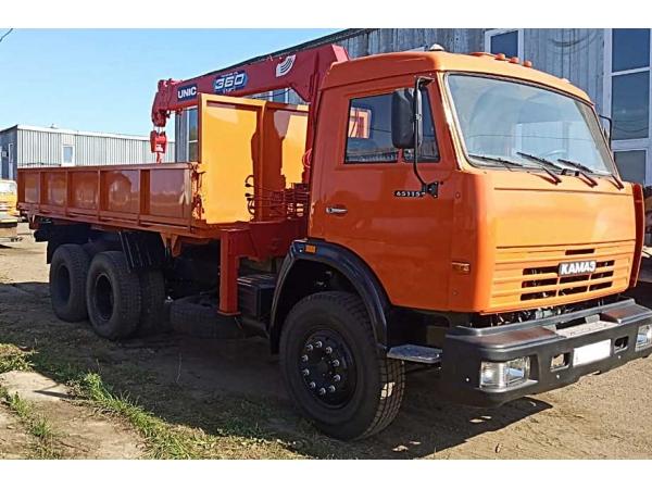 Самосвал с/х КамАЗ-65115 на 2 стороны с капремонта с КМУ.