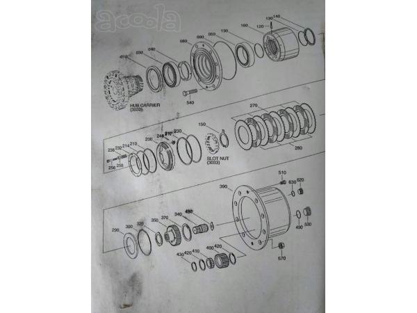 Запчасти на экскаватор HYUNDAI ROBEX 1300W-3