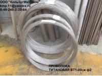Титановая проволока марки ВТ1-0, ВТ1-00, ВТ1-00 сварочная ГОСТ 27265-8