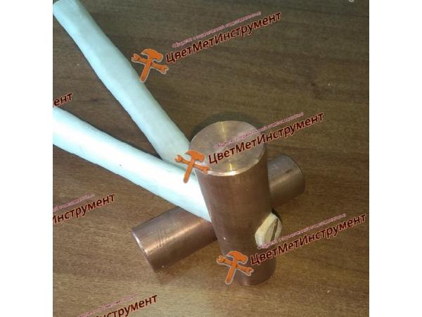 Молоток медный искробезопасный 2 кг (2000гр) с деревянной ручкой