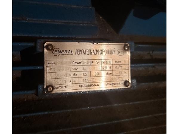 Крановый электродвигатель МТН-311-8  7,5кВт/690об.  Энерал