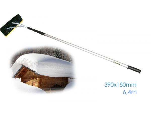 Скребок для уборки снега с крыш Телескопическая ручка  6,4м  SKRAB