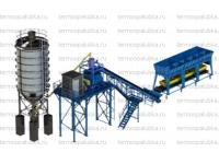 Бетонные заводы с ленточной подачей инертных 35-75 м3