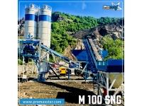 Мобильный бетонный завод M100-SNG (100m³/h)