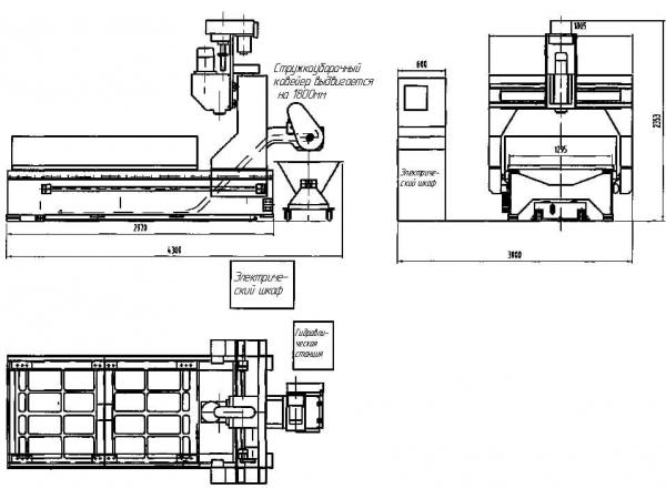 Вертикально-сверлильный станок с ЧПУ 2000х1000