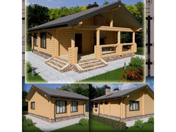 Проектирование частных гостевых домиков, бань, саун, хамамов.