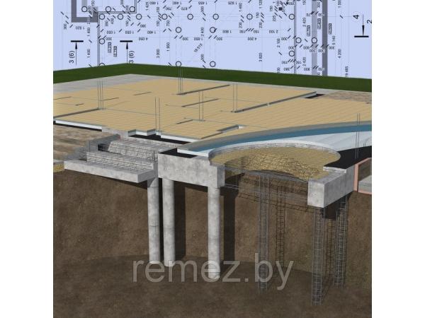 Расчет фундаментов (плитный, ленточный, ФБС, свайно-ростверковый)
