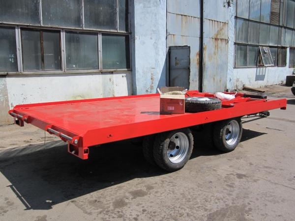 Низкорамный прицеп 9855-30 для перевозки спецтехники до 6 тонн