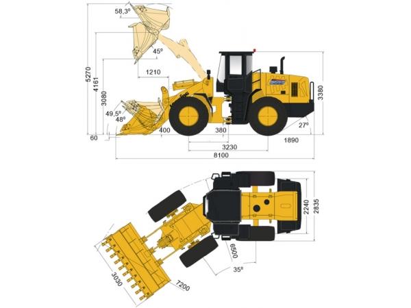 Фронтальный погрузчик Lonking CDM856 джойстик и кондиционер