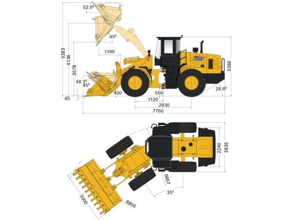 Фронтальный погрузчик Lonking CDM853 джойстик и кондиционер