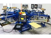 Оборудование для шелкографии или шелкотрафаретной печати.
