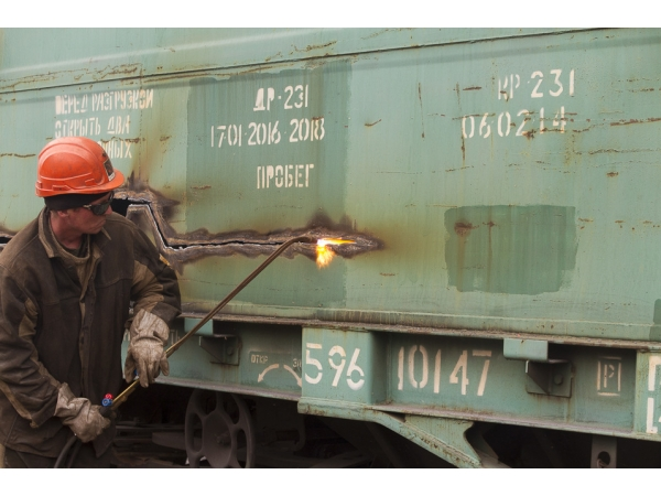 Разделка резка демонтаж жд вагонов