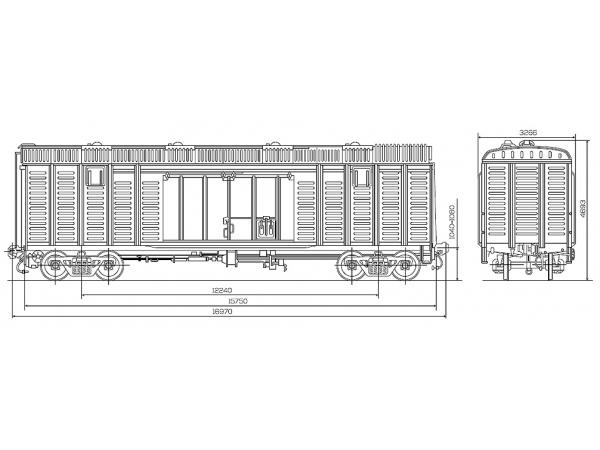 Куплю крытый вагон 11-280