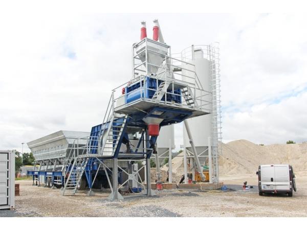 Б/У мобильный бетонный завод Nisbau 100 м3/ч (Германия) 2008