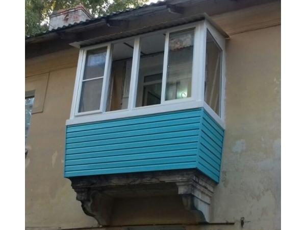 Ремонт балконных крыш (козырьков)