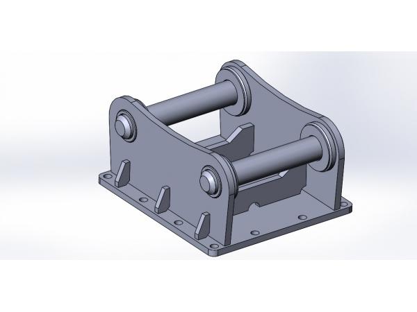Адаптерная плита подвеска переходник для гидромолота на экскаватор