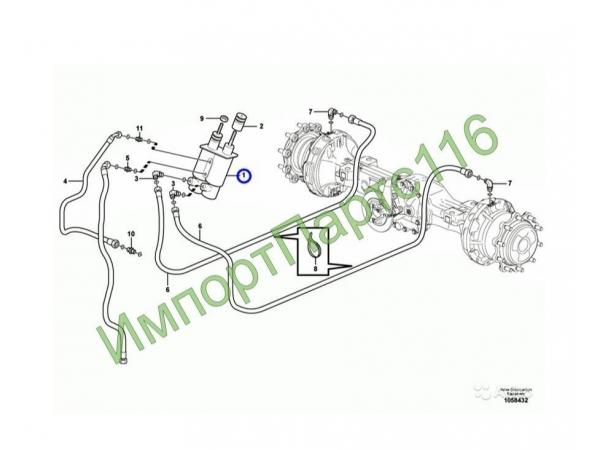Цилиндр тормозной Volvo BL61/BL71 11886865