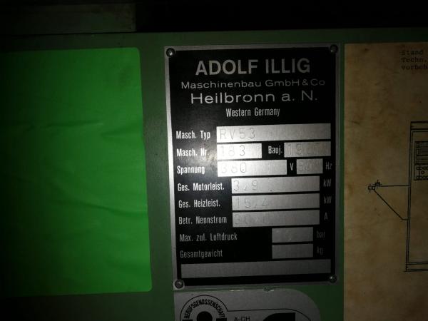 Термоформовочная машина ILLIG RV 53