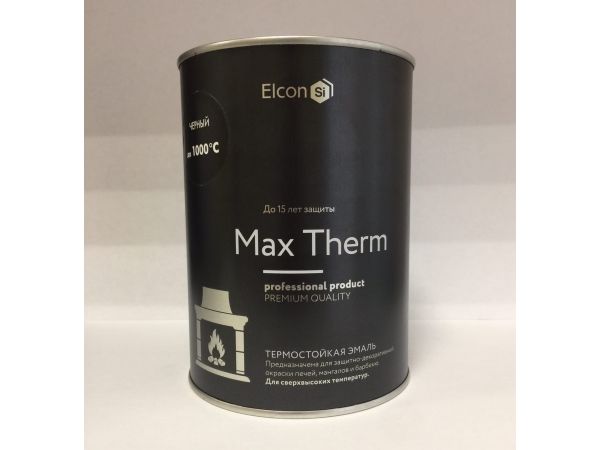 Эмаль термостойкая КО-8101 до +1000°С черная (0,8 кг)