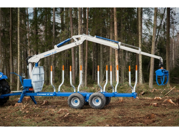 Лесовозный полуприцеп Scandic 12D с гидроманипулятором 7,2м