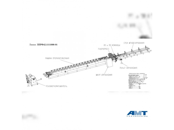 Линия производства металлочерепицы ЛПРФ42