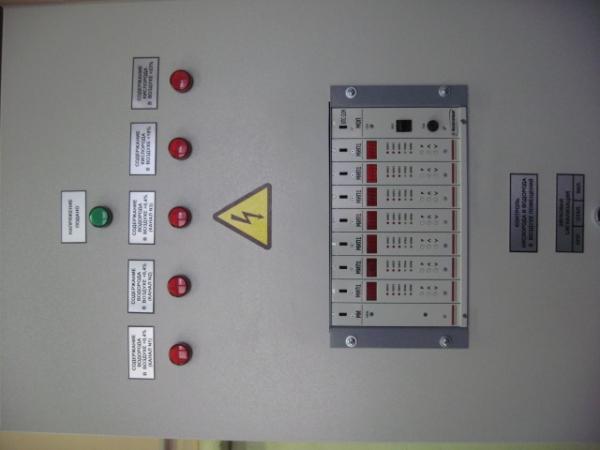 Щит контроля водорода в воздухе ЩК