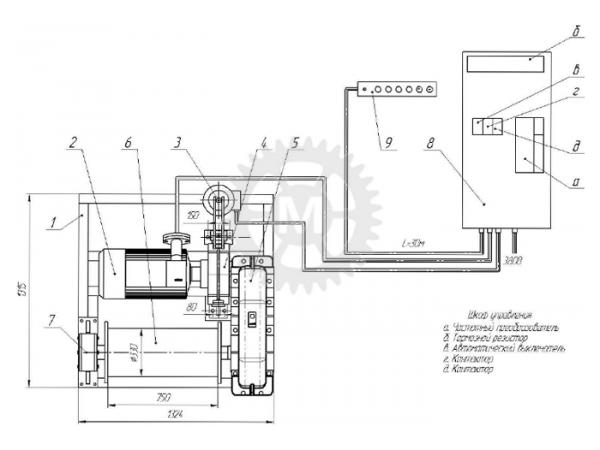 Вспомогательная лебедка ЛВ-50В