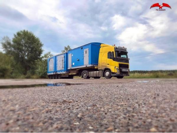 Перевозка модульных зданий, блок-боксов, вагончиков по РФ