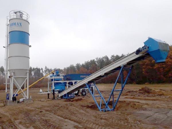 Мобильный бетонный завод M35-PLNT (35m³/h)