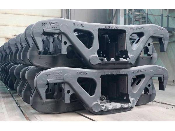 Литые детали тележек грузовых вагонов: рама боковая/балка надрессорная