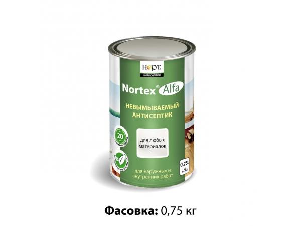 Невымываемый антисептик Nortex-Alfa для любых поверхностей