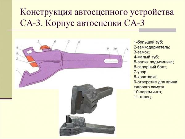 Автосцепка СА-3, тяговый хомут б/у, стояночный тормоз б/у