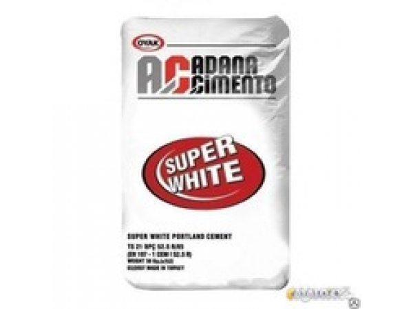 Цемент Белый Турция ADANA М-600 Д-0 (50 кг)
