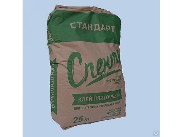 Клей плиточный для наружных и внутренних работ СПЕКТР СТАНДАРТ (25 кг)