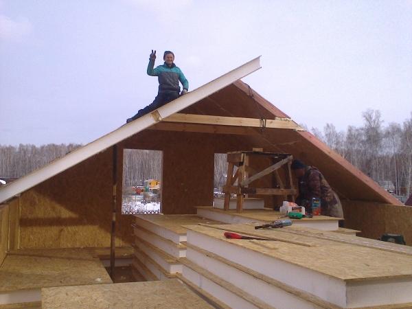 Строительство мансарды из сип панелей Челябинск