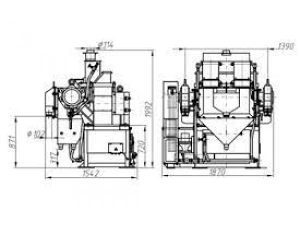 ЭВМ-36/50 сепаратор электромагнитный валковый