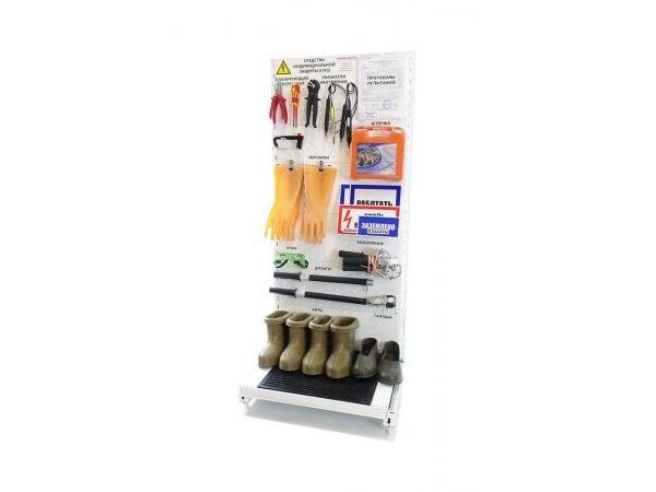 Стенд ELMA108 для хранения СИЗ напольный металлический 1630*700*610 мм