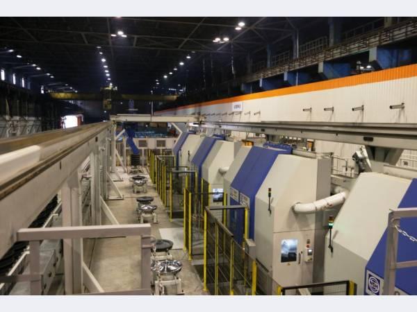 На ЕВРАЗ НТМК запустили новую линию по обработке железнодорожных колес