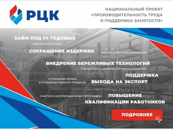 О национальном проекте «Производительность труда и поддержка занятости»
